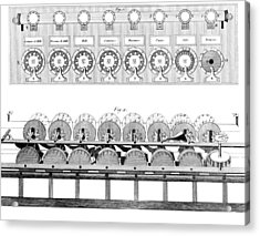 Pascal's Calculator, 17th Century Artwork Acrylic Print by Library Of Congress