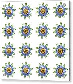 Passion Flower Design Acrylic Print by Bishopston Fine Art