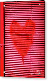 Passionate Red Heart For A Valentine Love Acrylic Print by Jorgo Photography - Wall Art Gallery
