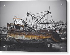 Past Memories Of The Sea Acrylic Print by Mountain Dreams