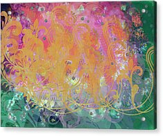Pastel Painting Acrylic Print by Don  Wright