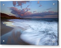 Pastel Sunset Tides Acrylic Print by Mike Dawson