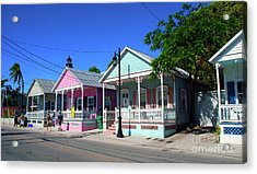 Pastels Of Key West Acrylic Print by Susanne Van Hulst