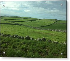 Pastures Of Terceira, The Azores, Portugal Acrylic Print by Kelly Hazel