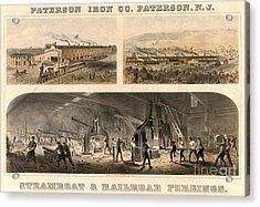Paterson Iron Company Acrylic Print by Granger