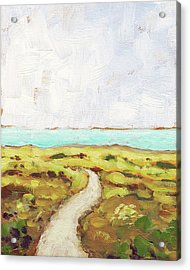 Path To The Sea Acrylic Print by Clary Sage Moon