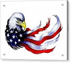 Patriotic Eagle Acrylic Print by Andrew Read