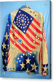 Patriotic Jacket. American Flag With 31 Stars Acrylic Print by Sofia Metal Queen