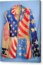 Patriotic Jacket With American Flag Pics Acrylic Print by Sofia Metal Queen