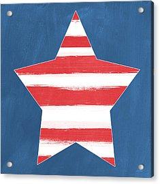 Patriotic Star Acrylic Print by Linda Woods