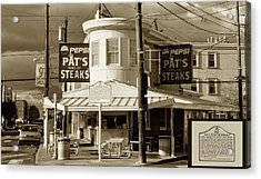 Pat's King Of Steaks - Philadelphia Acrylic Print by Bill Cannon