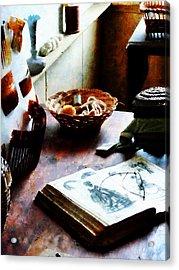 Pattern Book Acrylic Print by Susan Savad
