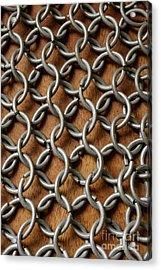 Pattern Of Metal Rings Acrylic Print by Edward Fielding