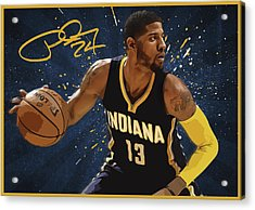 Paul George Acrylic Print by Semih Yurdabak