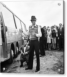 Paul Mccartney Beatles Magical Mystery Tour Acrylic Print by Chris Walter