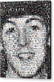 Paul Mccartney Beatles Mosaic Acrylic Print by Paul Van Scott