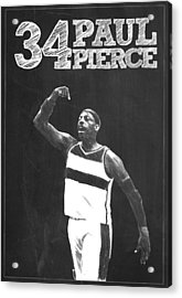 Paul Pierce Acrylic Print by Semih Yurdabak