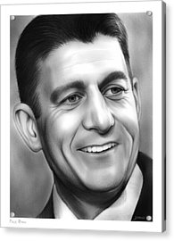 Paul Ryan Acrylic Print by Greg Joens