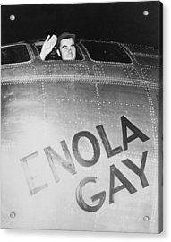 Paul Tibbets In The Enola Gay Acrylic Print by War Is Hell Store