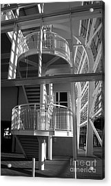 Pavilion Stairs At The Ageas Rose Bowl Acrylic Print by Terri Waters