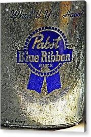 Pbr  Bucket O Beer  Acrylic Print by Chris Berry