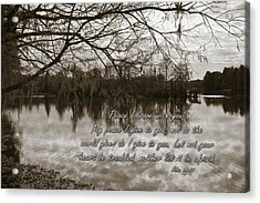 Peace I Leave With You Acrylic Print by Carolyn Marshall