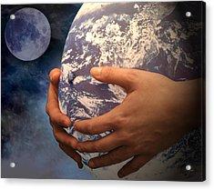 Peace On Earth Gaia Acrylic Print by Tom Romeo
