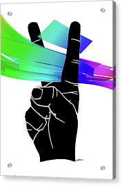Peace Ribbons Acrylic Print by Anthony Caruso