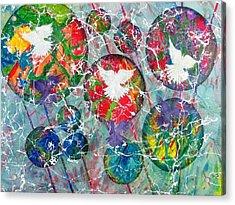 Peace Shadows The World Acrylic Print by David Raderstorf