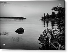 Peaceful Waters At Crystal Point, Lake Huron Mi Acrylic Print by Kelly Hazel