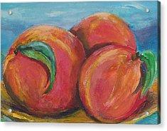 Peaches Acrylic Print by Eric  Schiabor