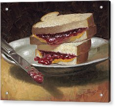 Peanut Butter Jelly Time Acrylic Print by Timothy Jones