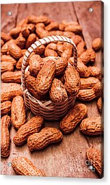 Peanuts In Tiny Basket In Close-up Acrylic Print by Jorgo Photography - Wall Art Gallery