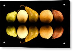 Pear Reflections Acrylic Print by Cabral Stock