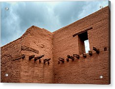 Pecos Timbered Ruins Acrylic Print by James Barber