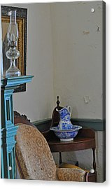 Peeling Paint Acrylic Print by Peter  McIntosh