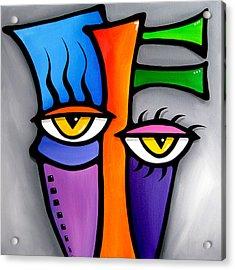 Peepers Acrylic Print by Tom Fedro - Fidostudio