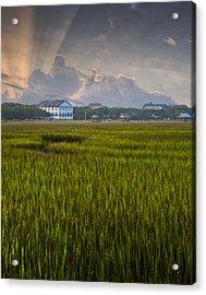 Pelican Inn Sunrise Acrylic Print by Ginny Horton