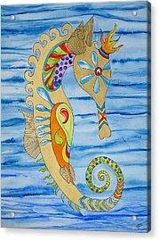 Penelope The Seahorse Acrylic Print by Erika Swartzkopf
