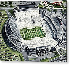 Penn State Beaver Stadium Whiteout Game University Psu Nittany Lions Joe Paterno Acrylic Print by Laura Row
