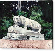 Penn State Nittany Lion Shrine University Happy Valley Joe Paterno Acrylic Print by Laura Row