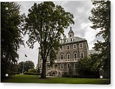Penn State Old Main And Tree Acrylic Print by John McGraw