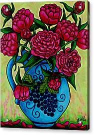 Peony Party Acrylic Print by Lisa  Lorenz