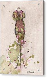 Peplum Dress Acrylic Print by Lauren Maurer