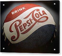 Pepsi Sign Acrylic Print by Bob Nardi