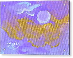 Periwinkle Moon Acrylic Print by Donna Blackhall