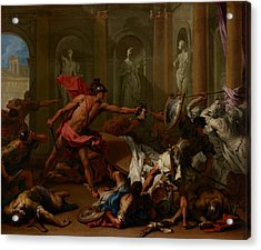 Perseus Confronting Phineus With The Head Of Medusa Acrylic Print by Mountain Dreams