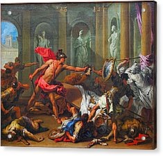 Perseus With The Head Of Medusa Acrylic Print by MotionAge Designs