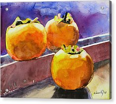 Persimmon Acrylic Print by Melody Cleary