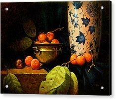 Persimmons Acrylic Print by Timothy Jones